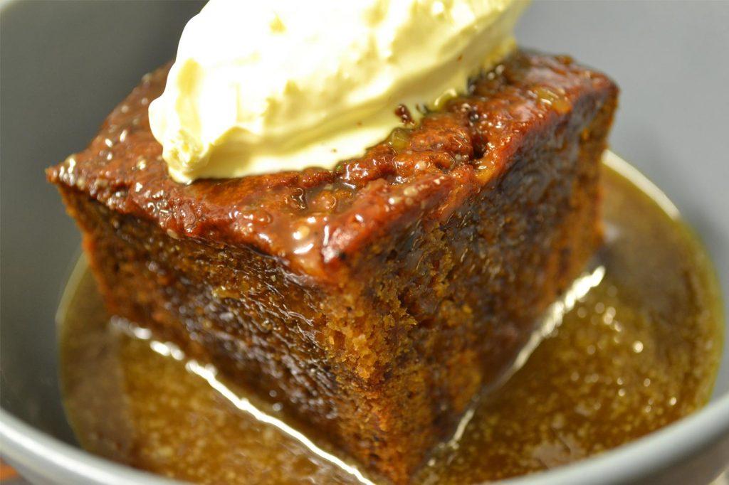 sixbellsinn - menu items - sticky toffee pudding